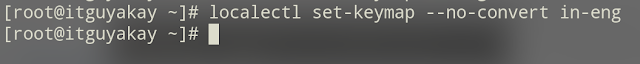 keyboard layout setting in Linux redhat