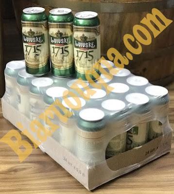 Thùng bia lon Lvivske 1715 nhập khẩu