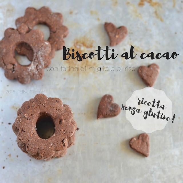 biscotti al cacao, senza glutine