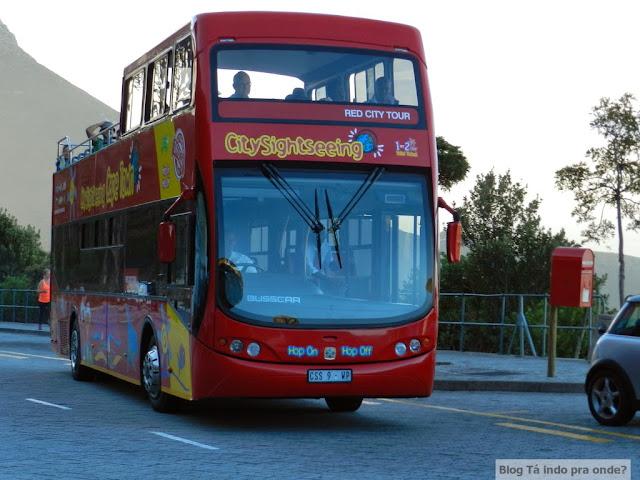 Ônibus hop on, hop off na Cidade do Cabo
