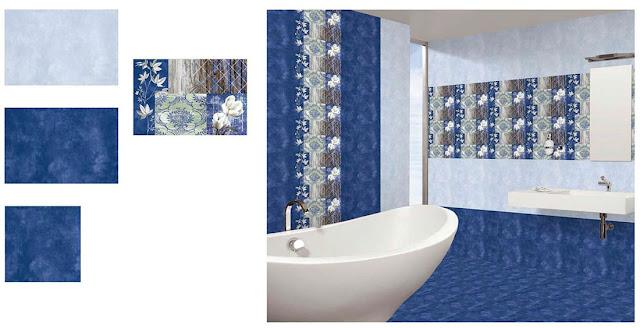 Bathroom Floor Tiles | BlueBathroom Floor Tiles  | Best Tile for Bathroom Floor | Ceramic Bathroom Floor Tiles