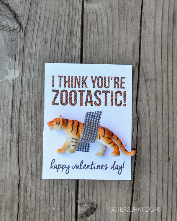 I Think You're Zootastic Valentine  with free printable