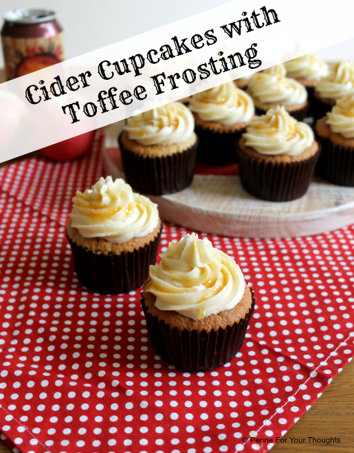 Cider cupcakes with Toffee Frosting