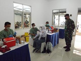 Subkogartap 0618/Bandung dan Bank BJB Gelar Vaksinasi Massal Tahap Pertama dan Kedua