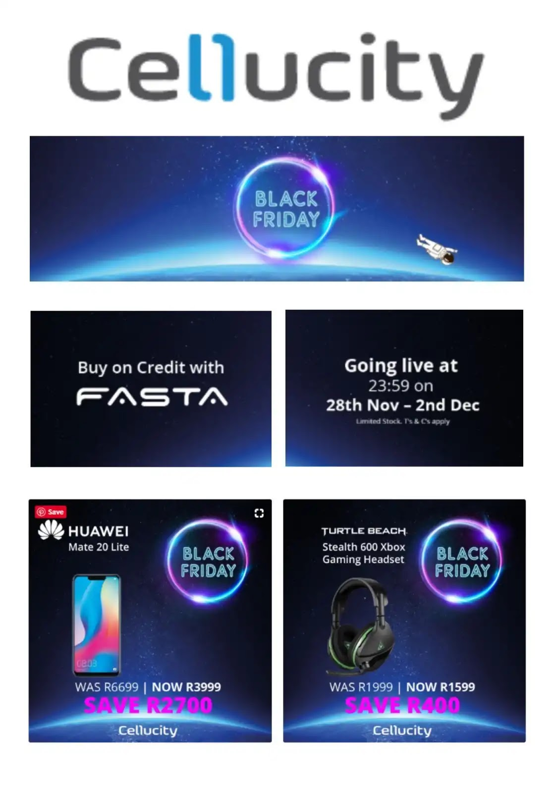 Cellucity Black Friday Deals in SA