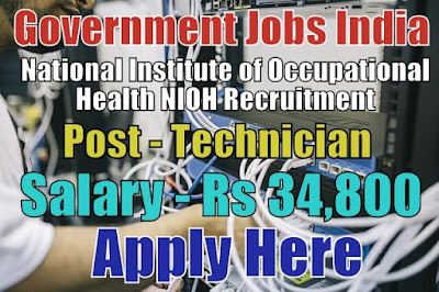 National Institute of Occupational Health NIOH Recruitment 2017