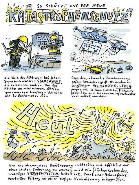 Flut, Überschwemmung, Klimawandel, Klimaschäden, Grüne, CDU, SPD, Laschet, Sirene, Warnsystem, SMS, THW, Bundeswehr, Helfer, Wiederaufbau, Hilfe