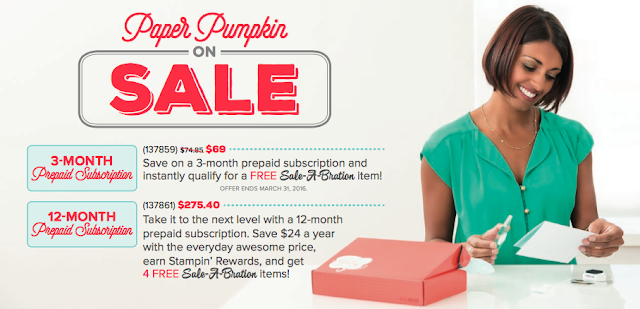 Paper Pumpkin Prepaid Subscription Sale-A-Bration SAB