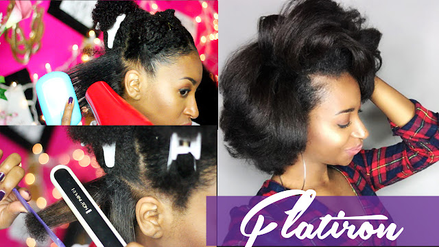 Natural Hair Flat Iron Styles: How To Flat Iron Natural Hair For Silky Results