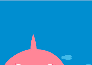 Baby Shark: Free Printable Party Poster Bacground.