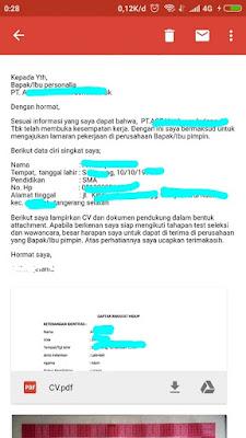 contoh surat lamaran lewat email