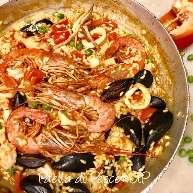 paella di pesce alessandra ruggeri gamberoni