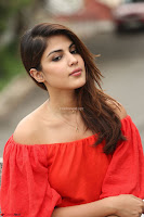 Rhea Chakraborty in Red Crop Top and Denim Shorts Spicy Pics ~  Exclusive 348.JPG