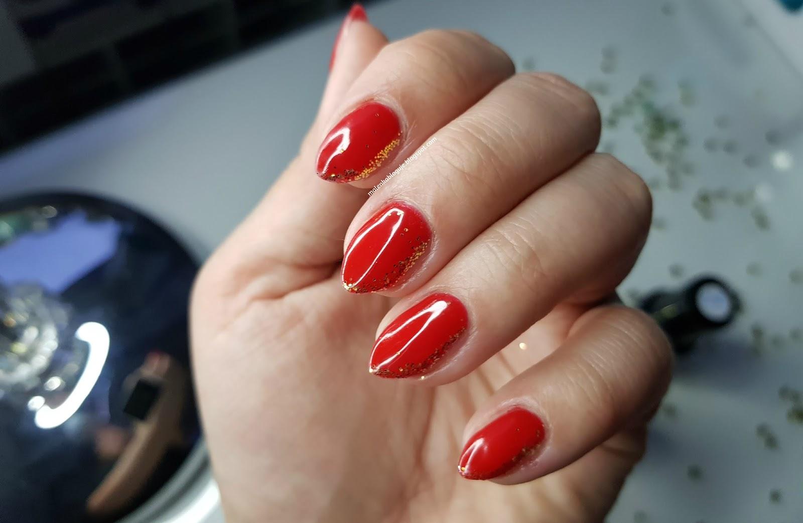Malenka Bloguje Swiateczny Manicure Neess Czerwony I