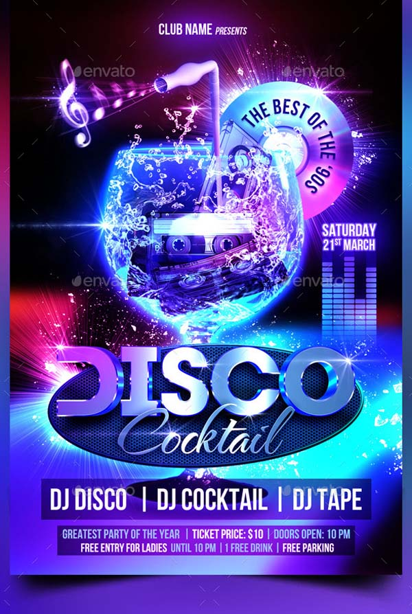 Download Design Templates - Disco party invites templates free