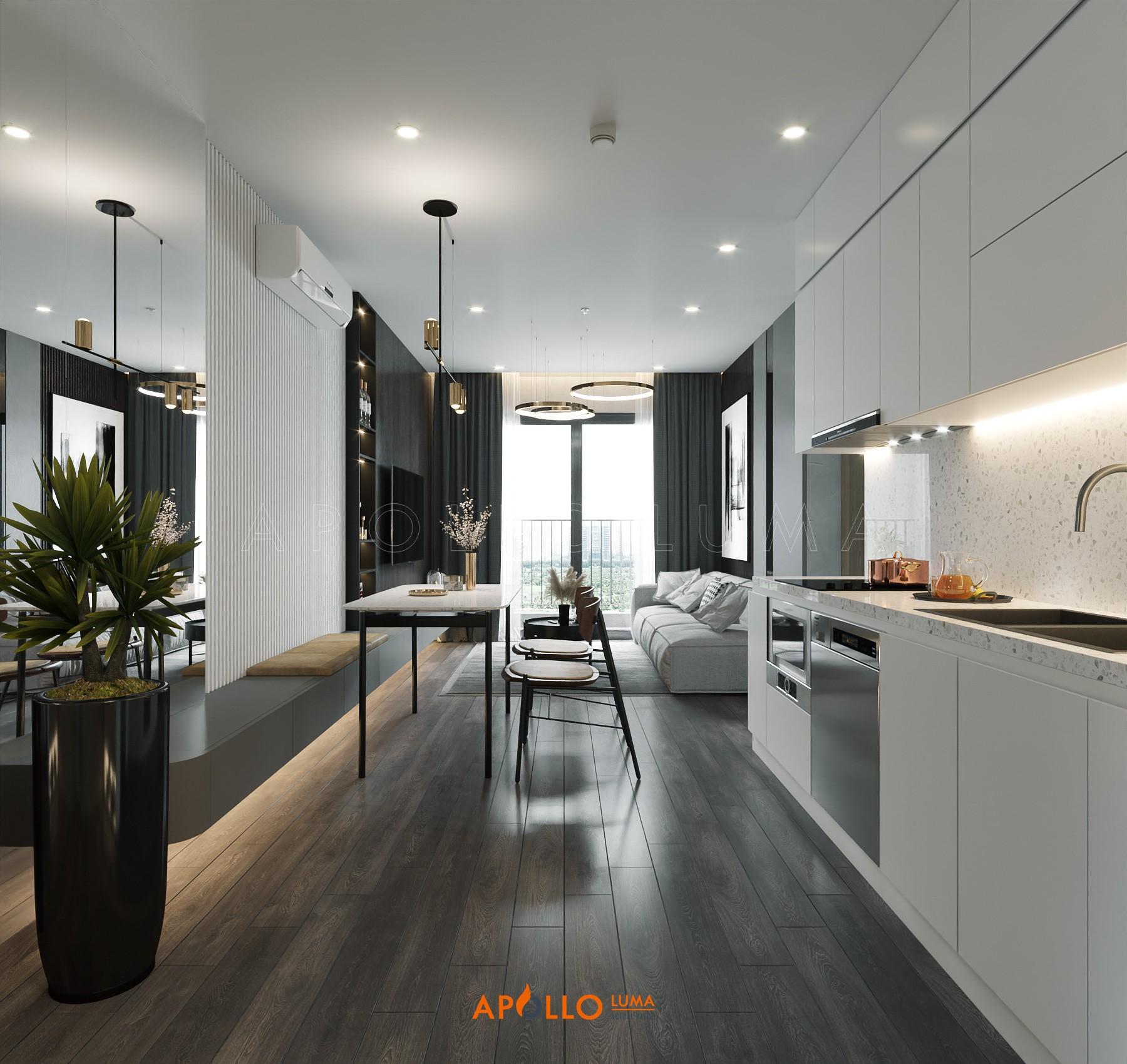 Thiết kế nội thất căn hộ 2 phòng ngủ Imperia Smart City (55m2)