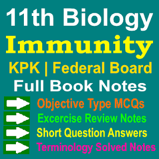 Biology Immunity Chapter 1st Year KPK and Federal Board Notes