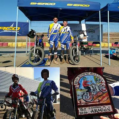 TR2 , campeón, Aragón, 2016,con el maestro Sergio Puyo , trial Matarraña Matarranya