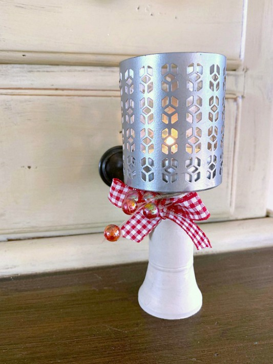 DIY Repurposed Pedestal Tea Light Candle Ideas