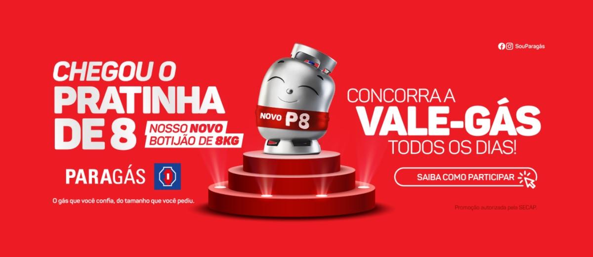 Promoção Nacional Gás 2021 Vale Gás Todo Dia P08 - Paragás