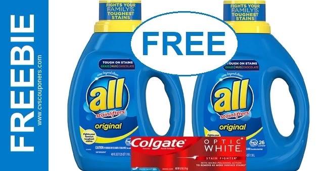 FREE All Laundry Soap CVS Deals 8-1-8-7