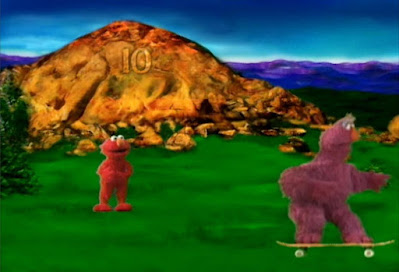 Telly asks Elmo what is the next number while skating. Elmo answers his question, the next number is 11. Sesame Street The Great Numbers Game