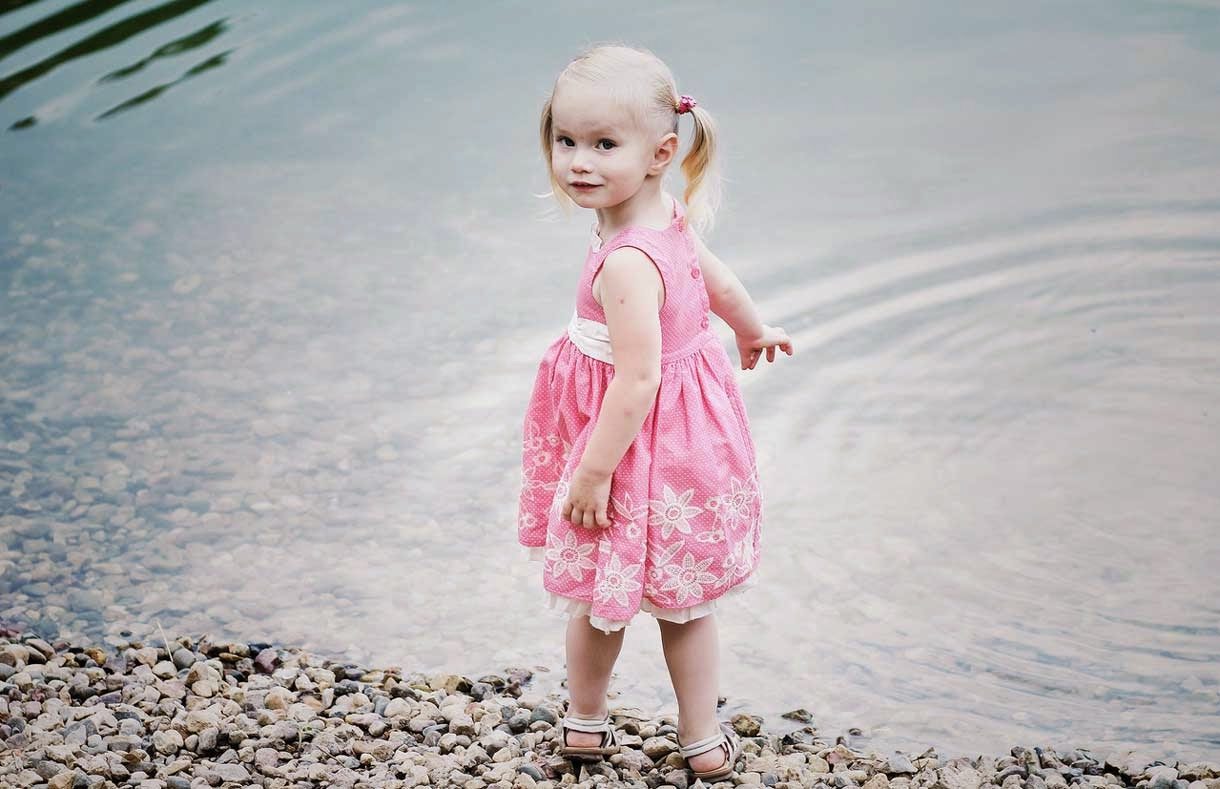 Cute Baby in Pink Dress