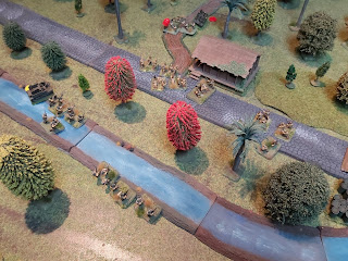 The Australians attack east of the bridge