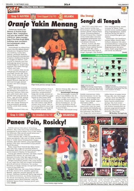 PRA-PIALA EROPA 2004: GRUP 3 AUSTRIA VS BELANDA