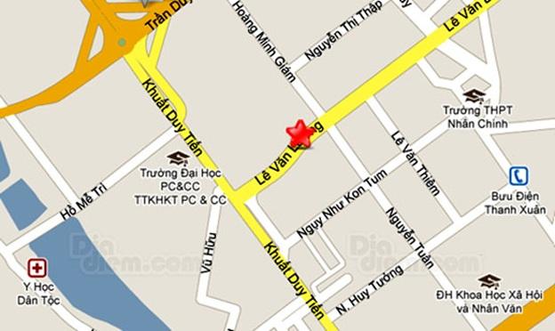 Vị trí chung cư Palm Garden Lê Văn Lương