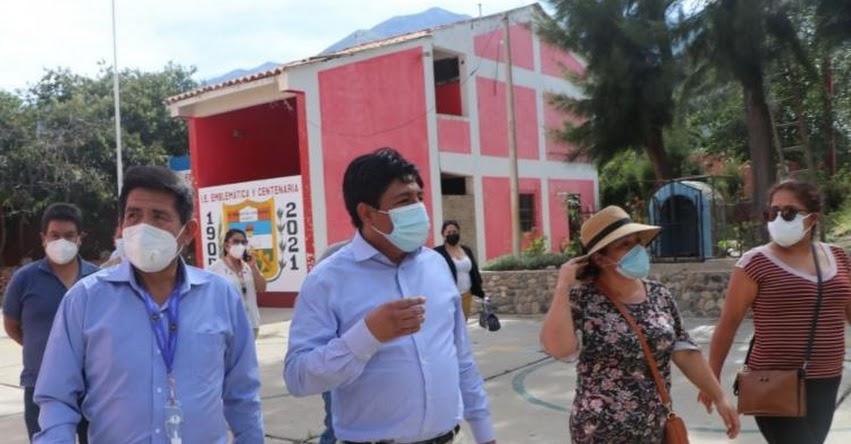 Inician construcción de tres colegios en la provincia de Huaylas en Áncash