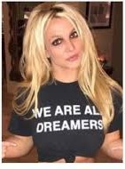 'WE ARE ALL DREAMERS' t-shirt worn by Britney Spears. PYGear.com