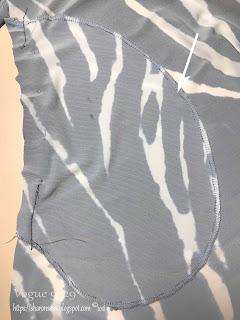 Vogue 9329 Dress Pocket Detail on Sharon Sews sewing blog