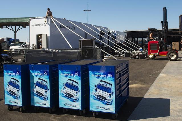 M-Sport WRC Service area