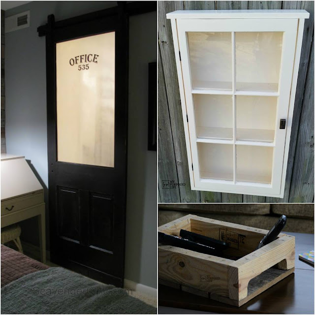 Sliding barn door, cupboard and coffee table tray DIY