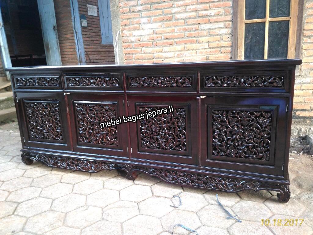 Bufet Palembang Jati B 180218 Mebel Bagus Jepara # Meubel Paletten