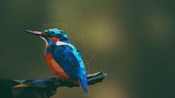 Bird, Abstract, Low Poly, Digital Art, 4K, #2