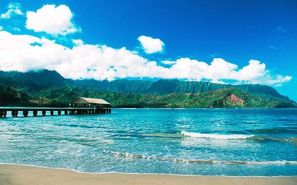 Havaí - Praia da Baía de Hanalei