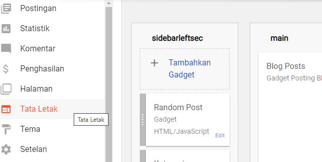 random post, cara pasang random post terbaru, cara membuat random post