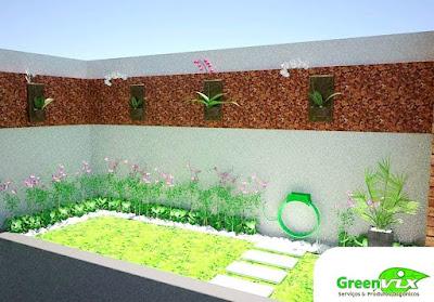 Vila 3D Projeto Maquete Eletrônica para Paisagismo Área Externa