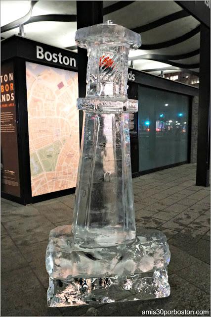 Escultura de Hielo en el Puerto de Boston