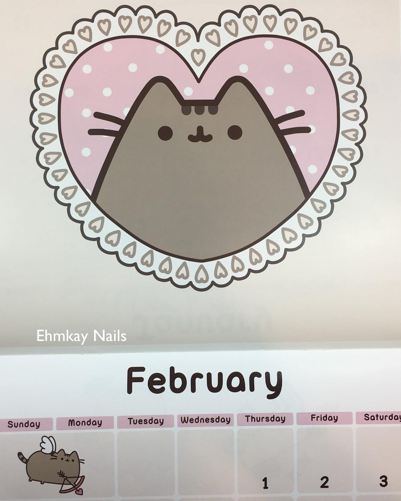 pusheen 2018 calendar series birthday pusheen nail art