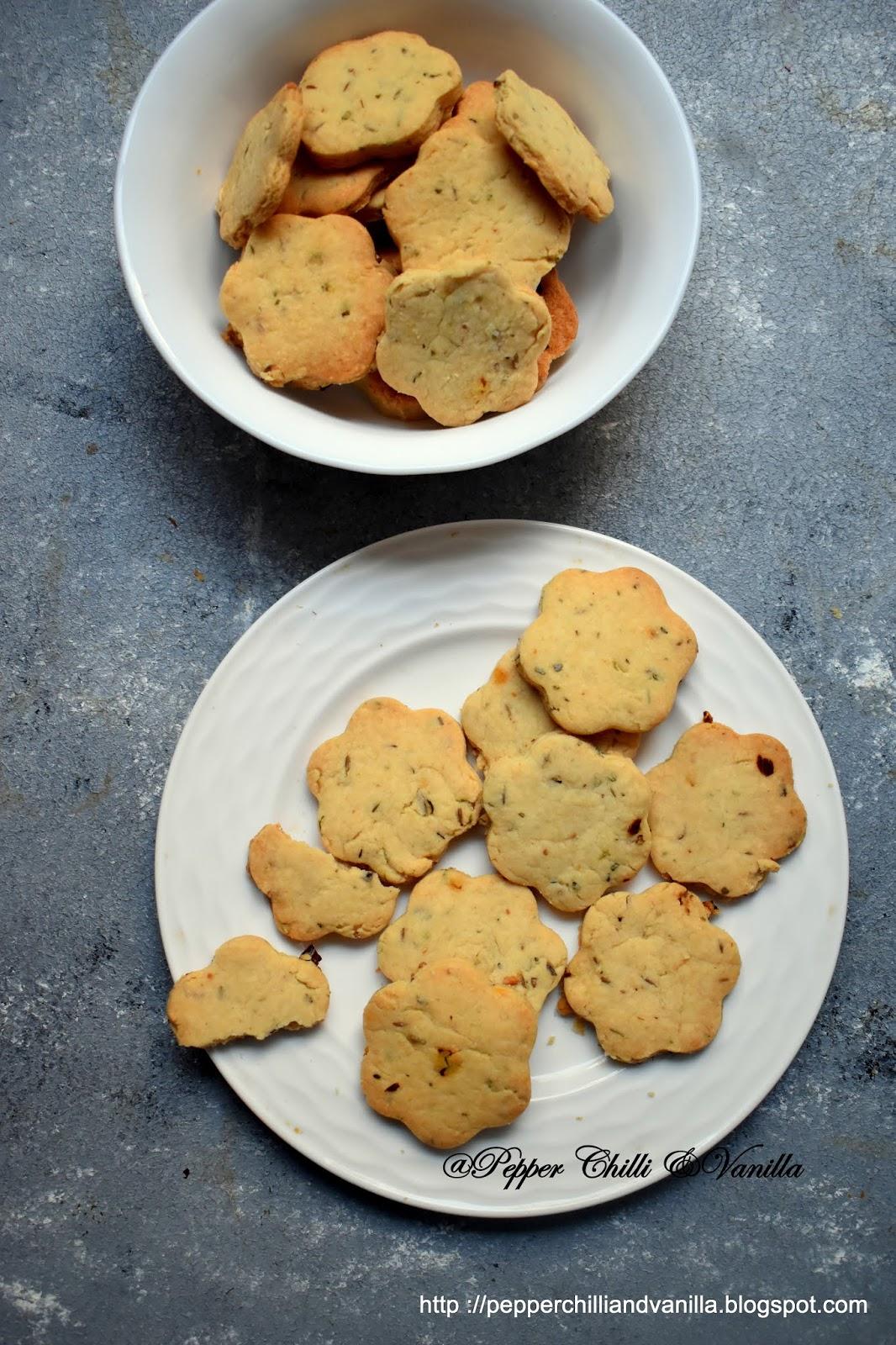 cumin cookies,masala cookies,khara biscuit