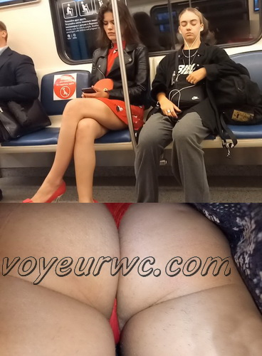 Upskirts N 3008-3017 (Upskirt voyeur videos with girls teasing with their butts on the escalator)