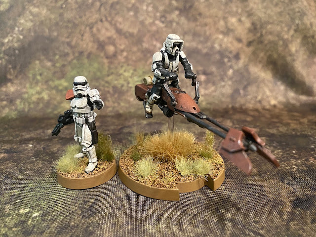 Star Wars Legion Imperial Scout Troopers on Speeder Bikes