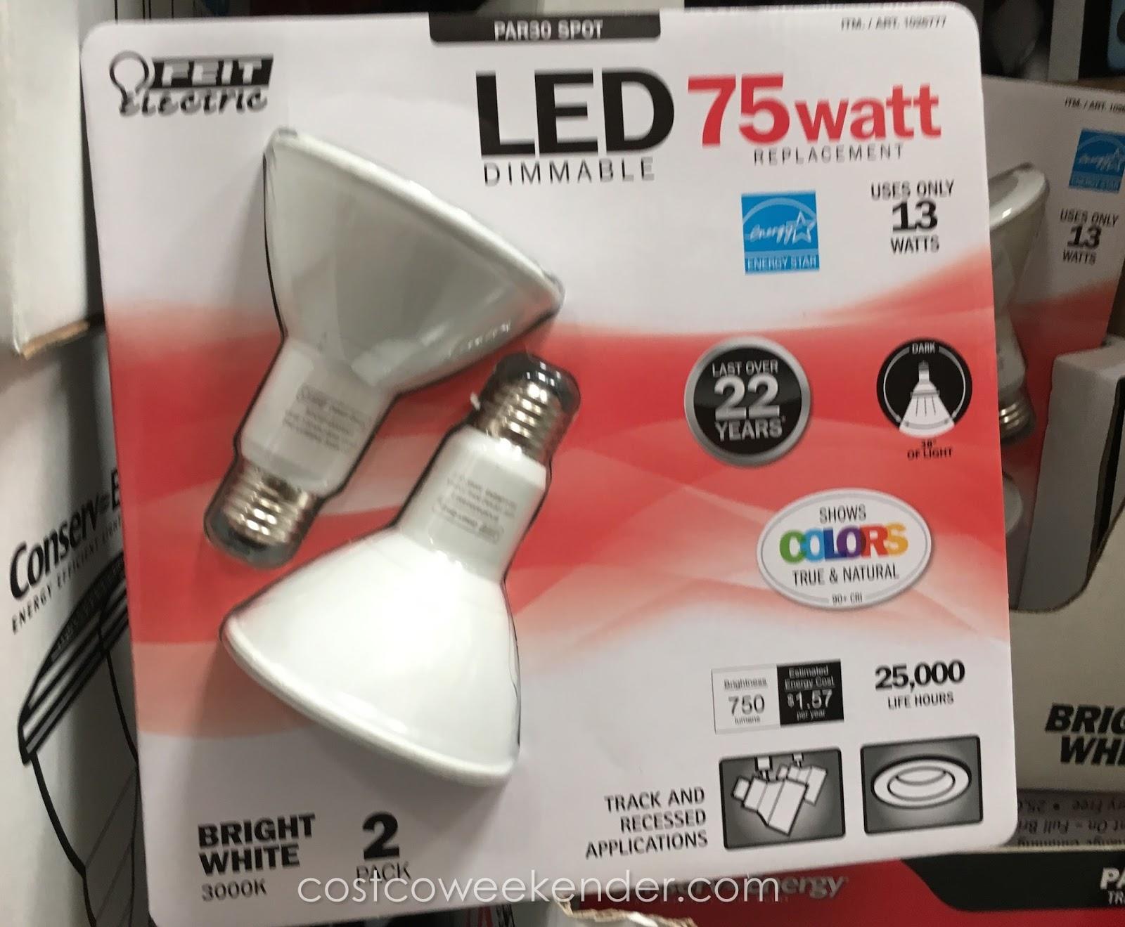 feit electric par30 spot led dimmable 75 watt bulb 2 pack. Black Bedroom Furniture Sets. Home Design Ideas