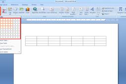 Cara Membuat dan Mengedit Tabel di Microsoft Word