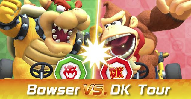 Mario Kart Tour (Mobile) colocará Bowser e Donkey Kong para competir na próxima temporada