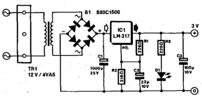 Simple 3V Power Supply Circuit Diagram For Portable Radios