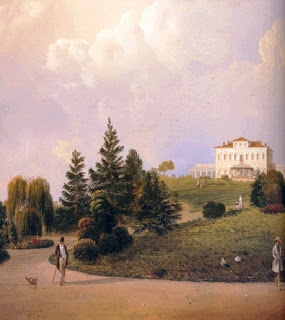 An 18th century painting of the Villa Borromeo-d'Adda